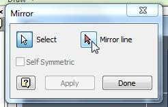 The equation is equal to 11.3. Mirror the Fold Lines 1. Click on Mirror from the Pattern toolbar. 2.