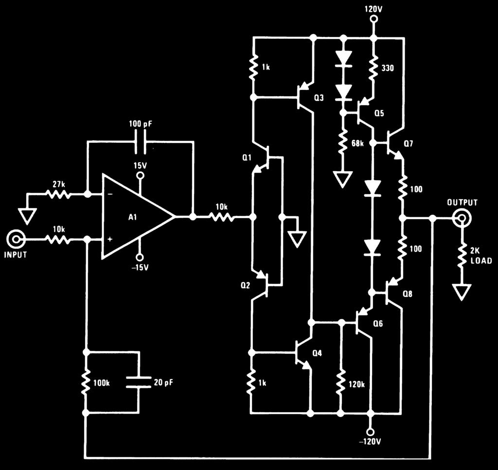 Op Amp Booster Designs Pdf National Lm386 Audio Power Amplifier Datasheet For Battery Operation 120v Swing Continued An 272 A1 Lf357 Pnp 2n5415
