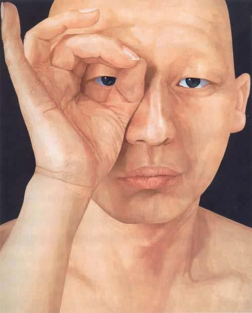 SOUTH KOREA Byen Ung Pil Byen Ung-Pil s explores the polarity of human existence by painting a mirror image of a face that