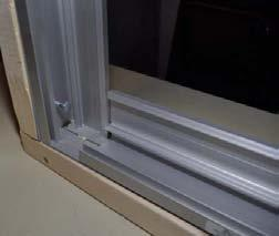 Flashing (by installer) will cover the top open ends of vertically running aluminum.