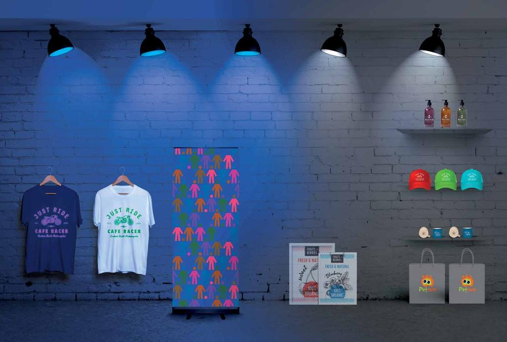 In-house printing just got smrter in ny colour, including nd electrifying neon.