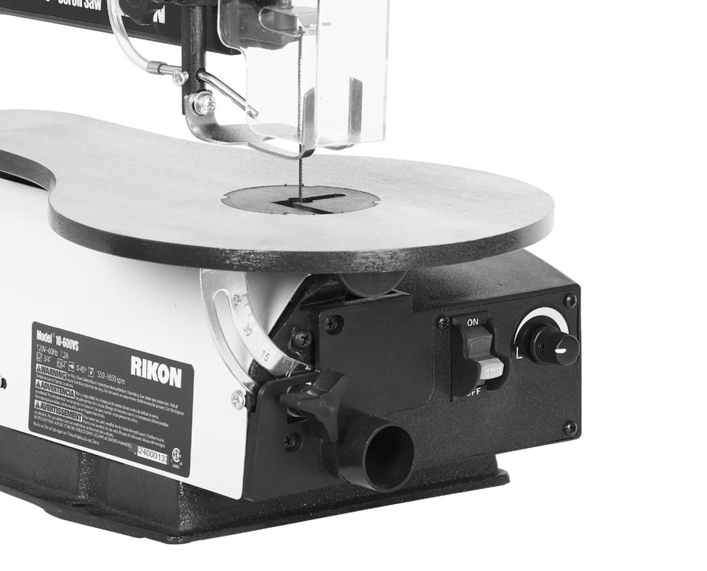 16 Vs Scroll Saw Operator S Manual Record The Serial Number And Diagram Do Not Turn Your Machine On If Any Of These Items Are Missing You May