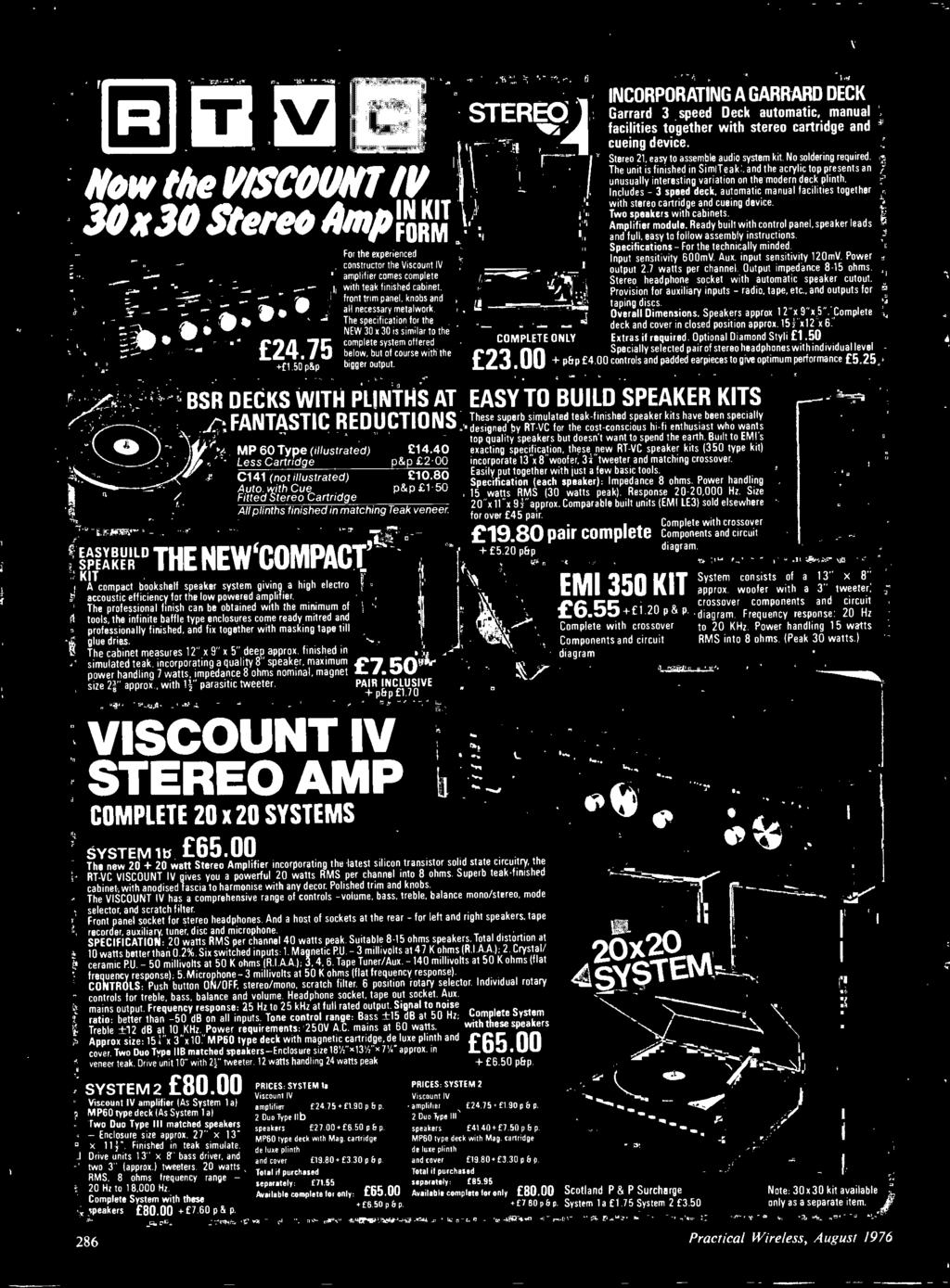 August Also Audio De Cassette Po Er Supply For Ca Pdf 7w Amplifier Based Tba810 Circuit Diagram Ild Speaker The Newcompac Kit A Compact Bookshelf System Giving High Electro