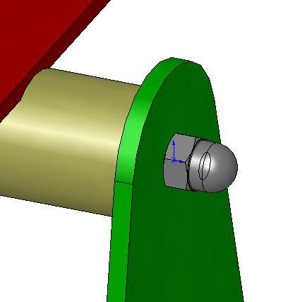 Positioning the Cap nut Apply Mates Add a Concentric Mate between the hole in the cap nut and the outer