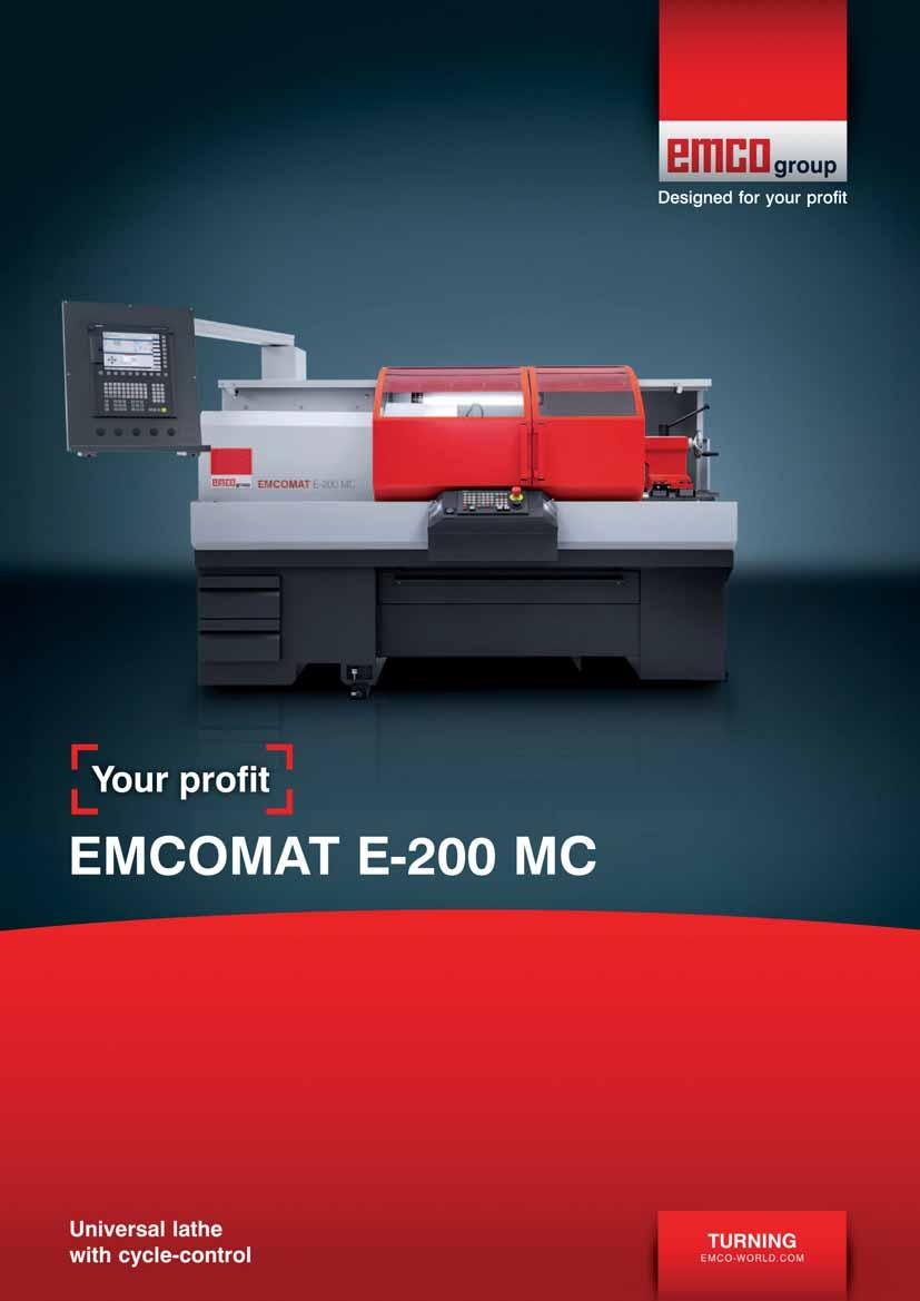 EMCOMAT E-200 MC for the m cycle-controlled m - PDF