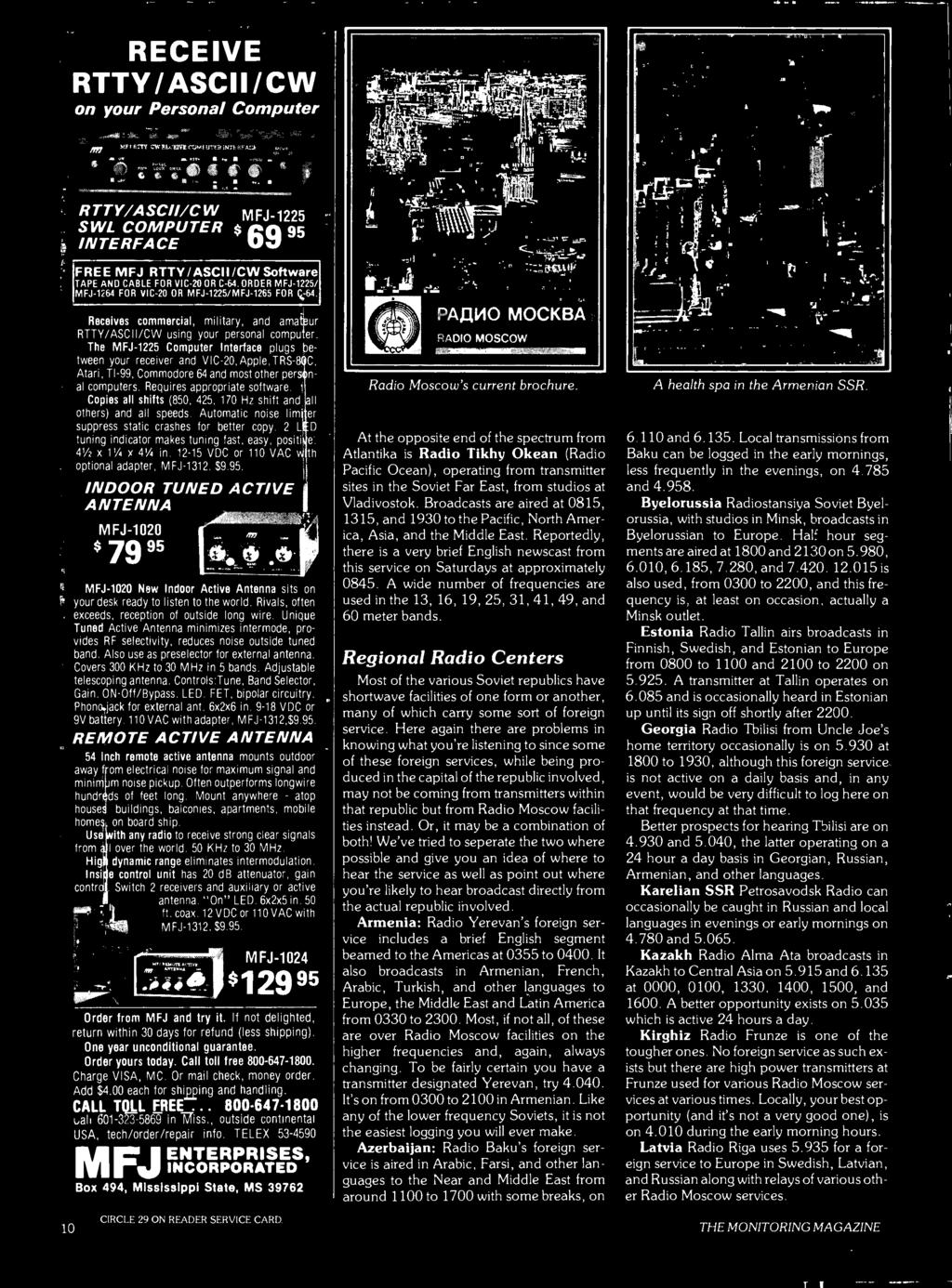 Hello World Its Kwkh 40th Anniversary Soviet Broadcasting An Tv Infrared Remote Control Receiving Circuit Communicationcircuit The Mfj 1225 Computer Interface Plugs Between Your Receiver And Vic 20 Apple