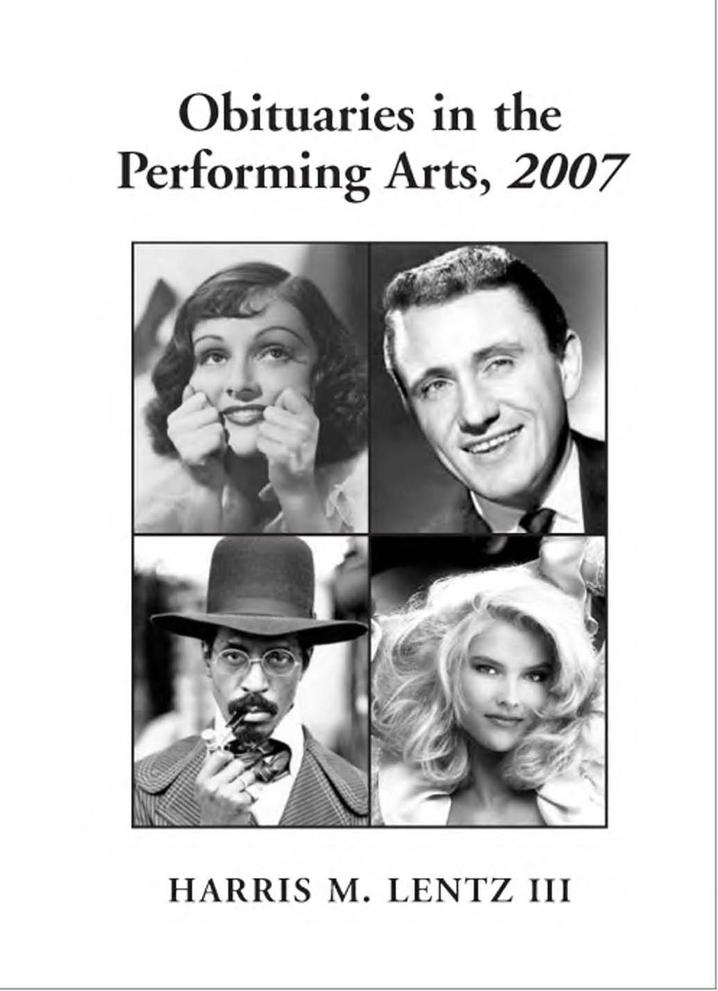 Obituaries in the Performing Arts, PDF
