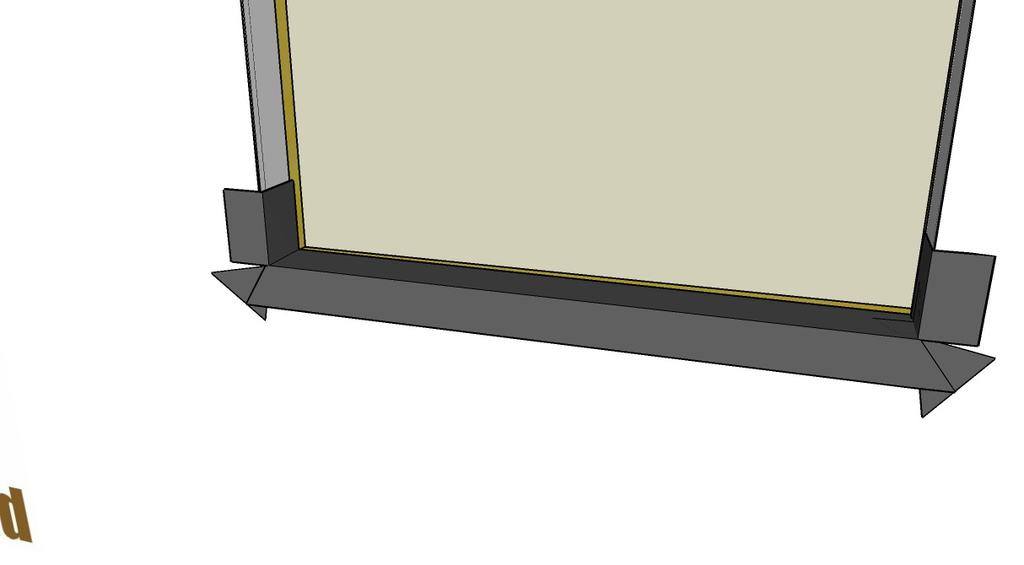 : Step 2a (continued) Alternate - Apply the Sill Pan Alternate - Apply the Sill Pan (continued) Cut a piece of self adhesive flashing 8 longer than the width of the rough opening Position the