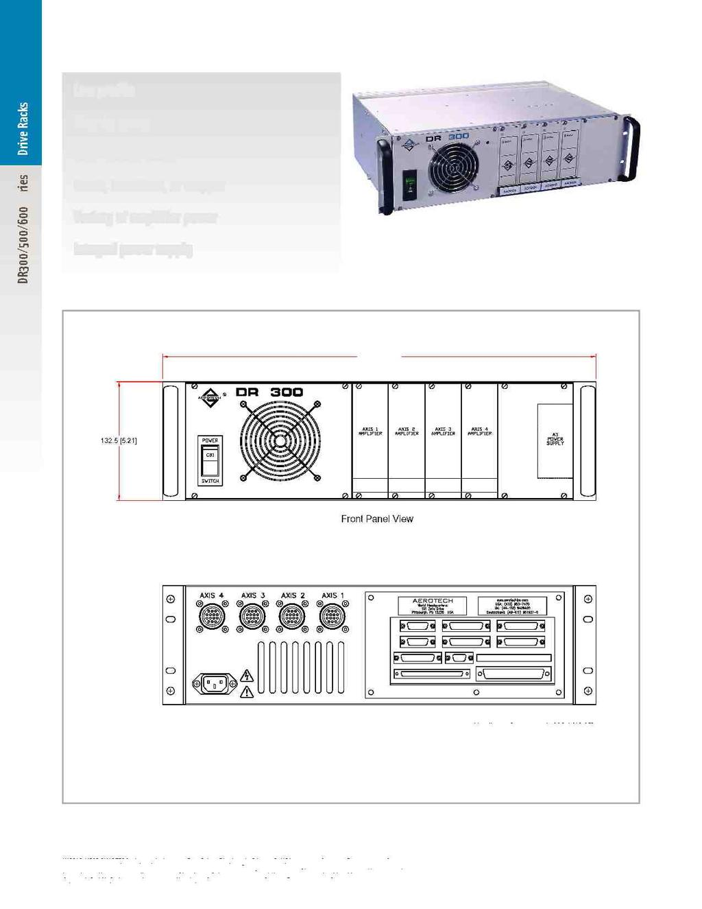 I H Y Fe Dr Series Drive Racks Plug In Drives Rack Mount Design Wiring Permanent Magnet Latching Contactors For Nonmotor And Lighting Dr300 Specifications Dimensions Low Profile V Brush
