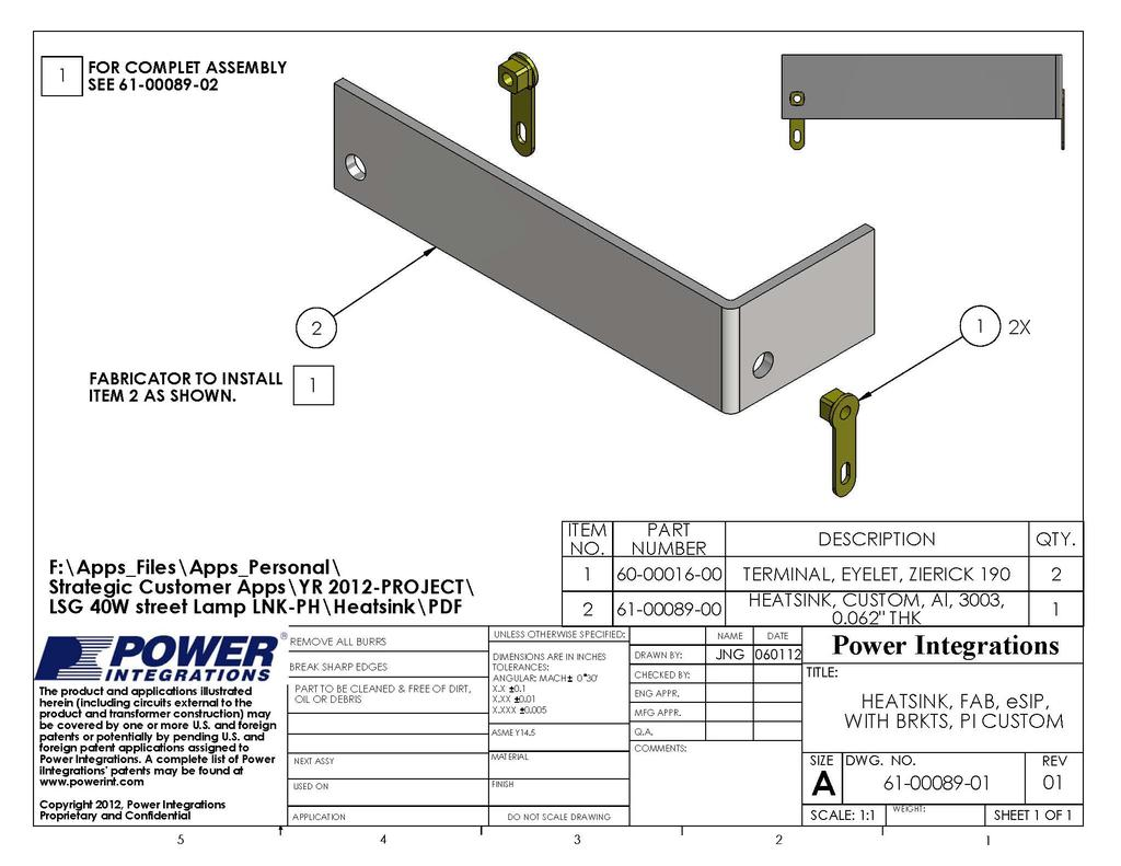 Design Example Report Pdf High Power Led Driver Circuit Using Lnk403eg Der 340 405 W Lnk419eg 22 Aug 12 9