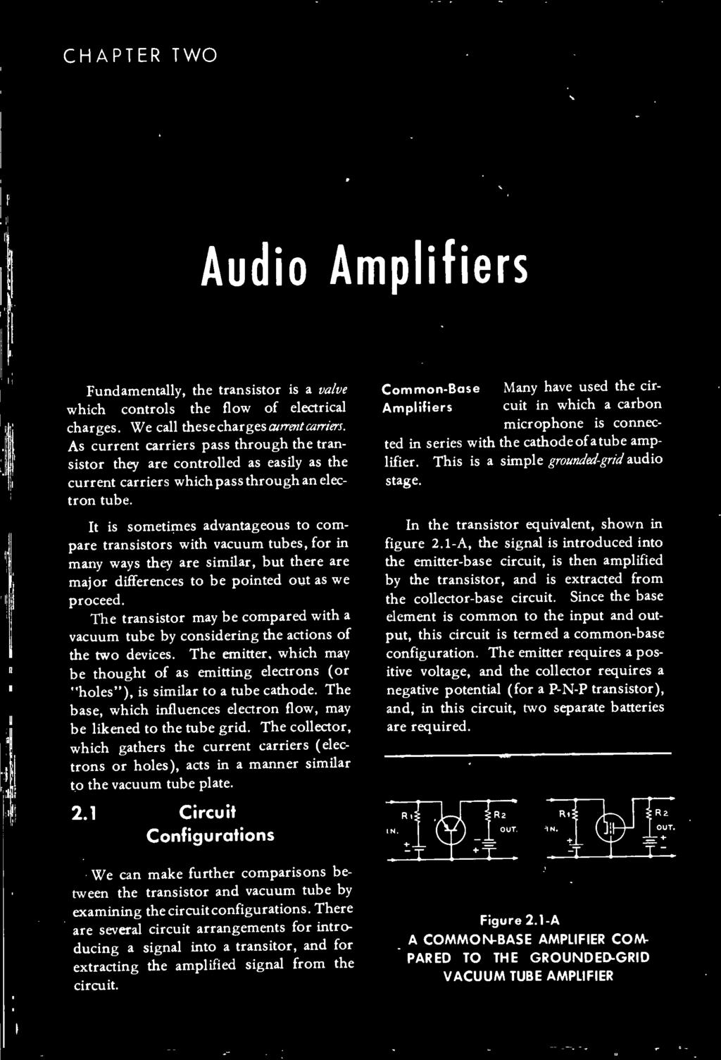 The Transistor Radio Handbook Theory Circuitry Equipment Pdf Commonbasenpntransistorcircuitjpg Base Which Influences Electron Flow May Be Likened To Tube Grid