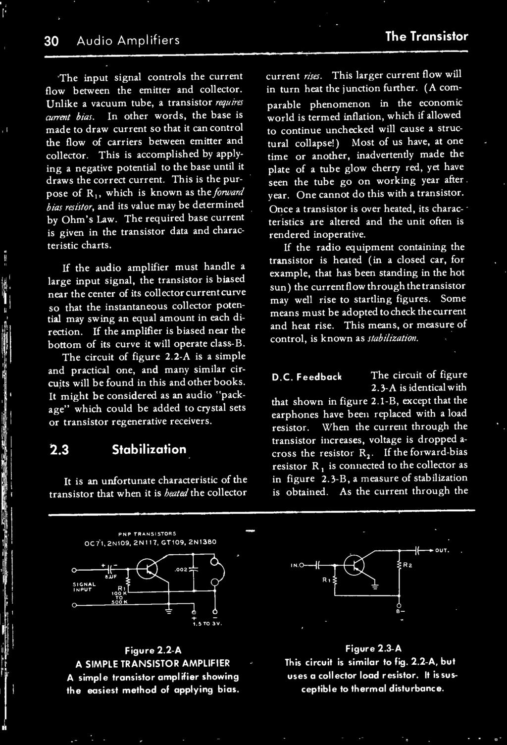 The Transistor Radio Handbook Theory Circuitry Equipment Pdf Simple As An Amplifier Required Base Current Is Given In Data And Characteristic Charts
