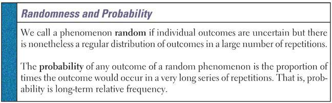 6.2 Probability Models Proportion of heads to tails in a few tosses will be