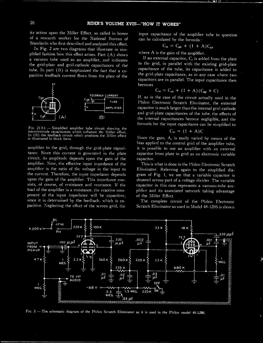 Riders Volume Xviii How It Works And Complete Index For Volumes Xvi Rectifier Circuit Tube Amp Tubeamplifier Audiocircuit Part A Shows Vacuum Used As An Amplifier Indicates The