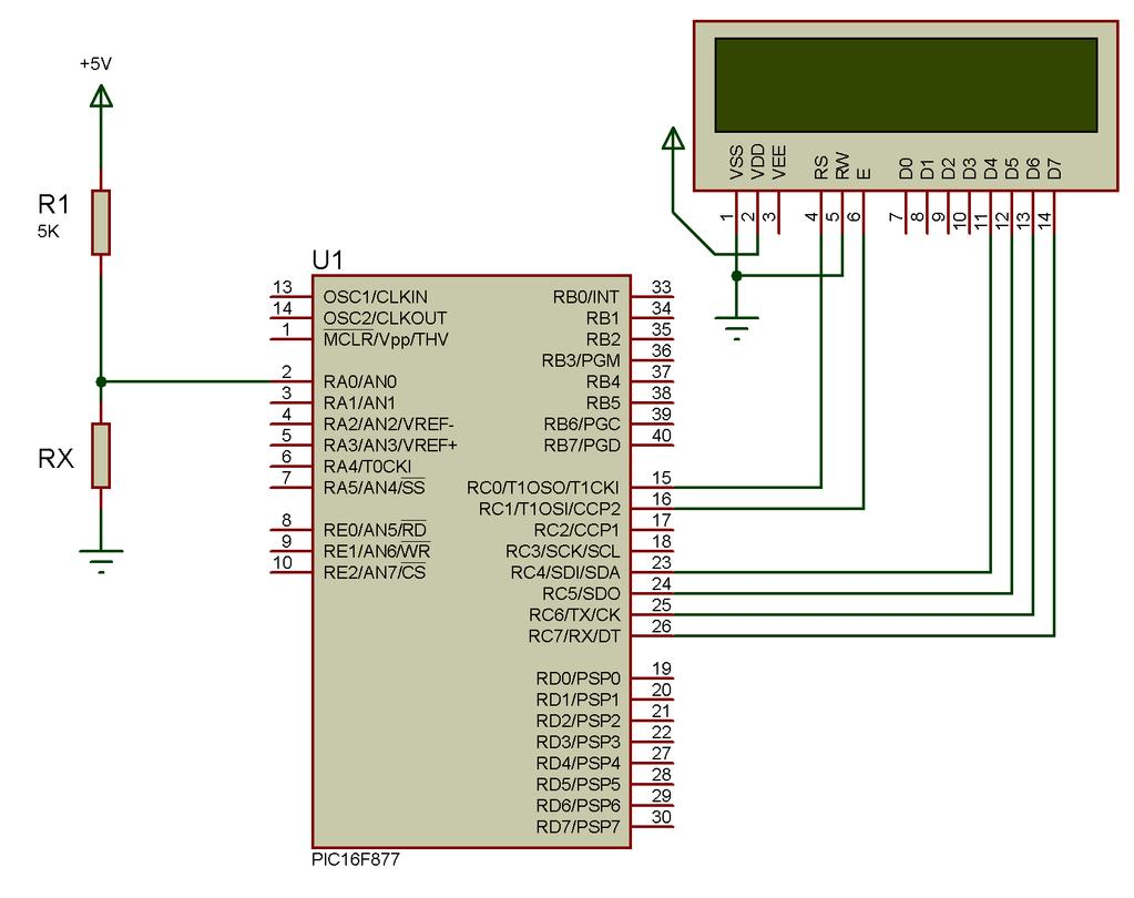 Embedded Systems Interfacing Pic With External Devices Analog To Digital Converter Using Pic16f877a Microcontroller Adc