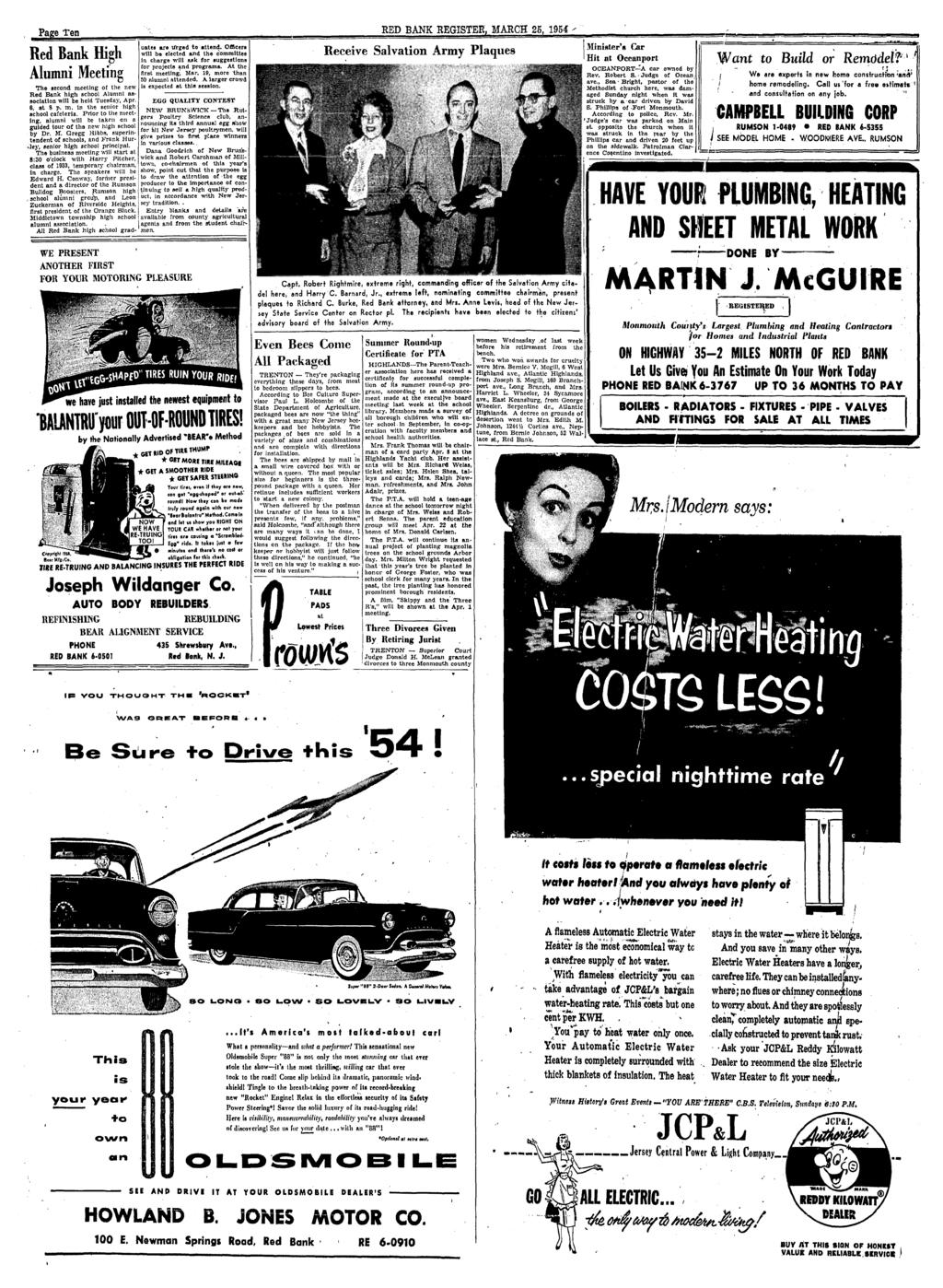 Red Bank Register For All Departments Call Pdf Rambler Wiring Diagram Apm 2 8 Harley Sportster Tail Page Ten March 25 1954 High Alumni Meeting The