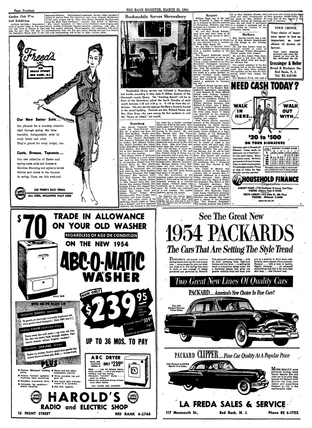 Red Bank Register For All Departments Call Pdf Anti Creep Circuit Wiring Diagram 1956 Studebaker Passenger Car Page Fourteen Garden Club P