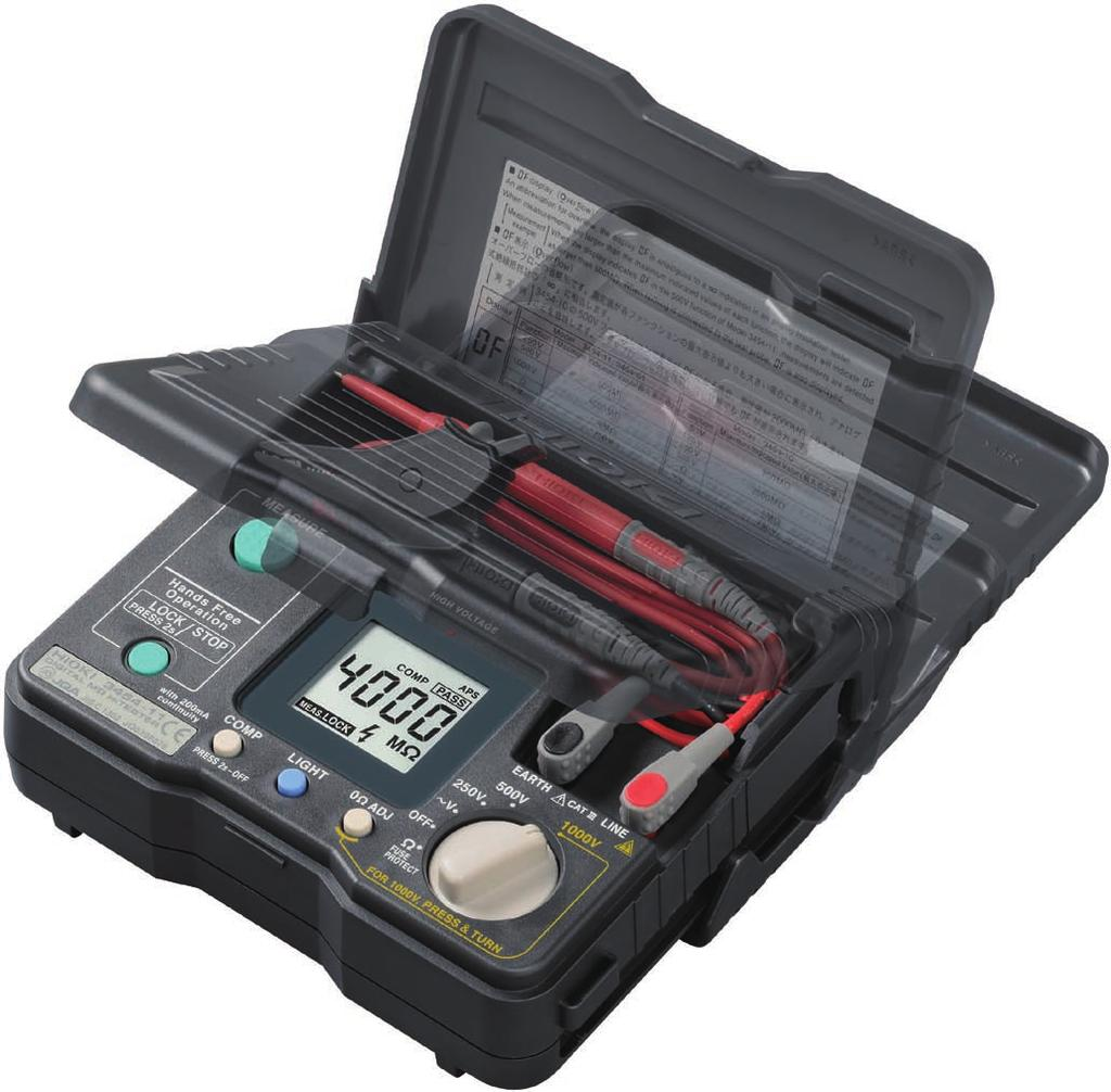 Insulation Tester Series Flip The Cover A Full Line Up Of Earth Digital Kyoritsu 4300