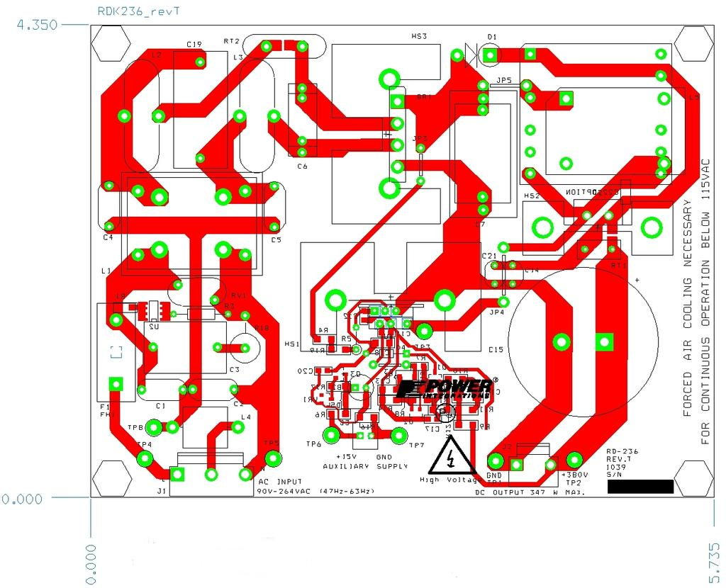 Pfc Front End Stage Applications Engineering Department Pdf High Power Led Driver Circuit Using Lnk403eg 18 Nov 10 Rdr 236 347 W Pfs714eg 5 Pcb Layout
