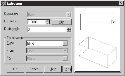 Modifying, Extruding and Revolving the Sketches 2-3 EXTRUDING THE SKETCHES (AMEXTRUDE COMMAND * ) Toolbar: Part Modeling > Sketched Features - Extrude Menu: Part > Sketched Features > Extrude Context