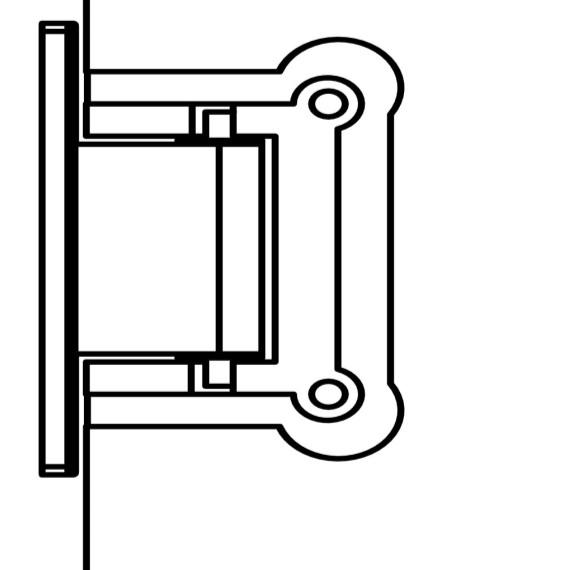 If interference exists, the hinges plates can be loosened to adjust gaps.