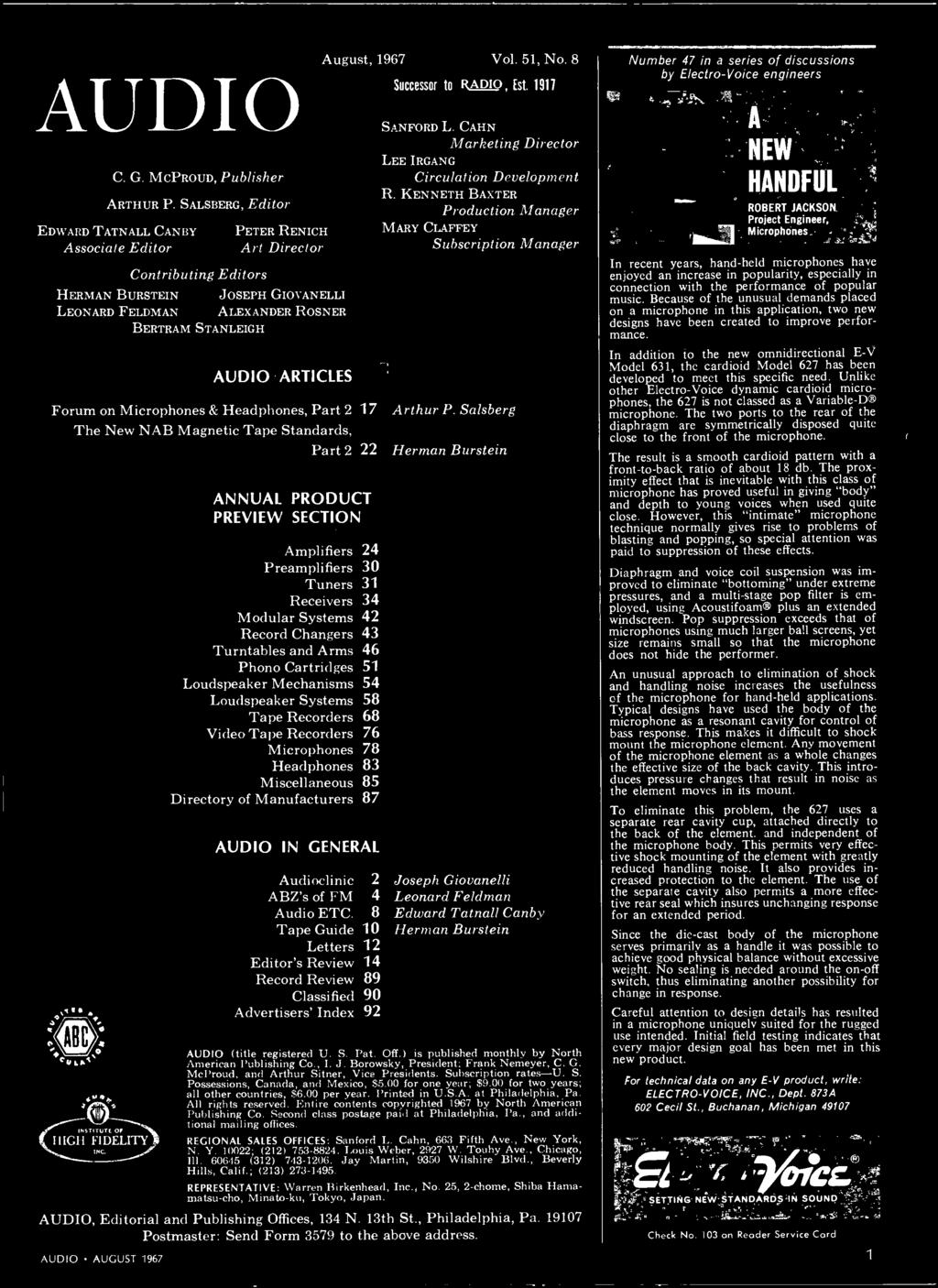 Stereo Hi Fi Preview Issue Pdf 53 Db Preamp For Tape Or Phonographs Articles Forum On Microphones Headphones Part 2 17 The New Nab Magnetic Standards