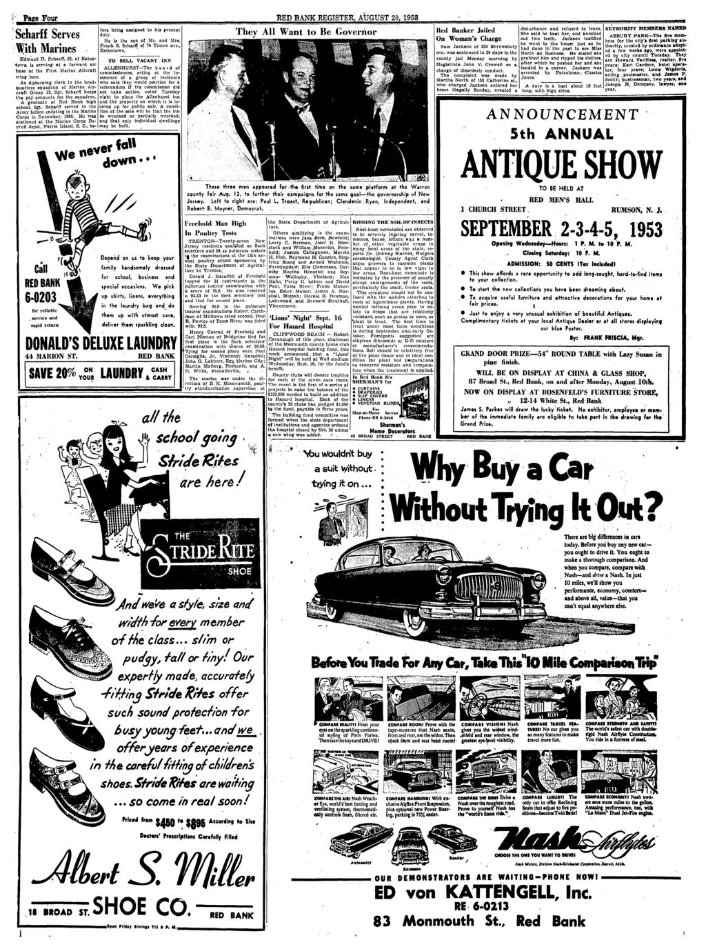 Red Bank Register For All Departments Call Pdf Glove Compartment Wiring Diagram 1953 Studebaker Champion And Commander Pace Four August 20 6 0203