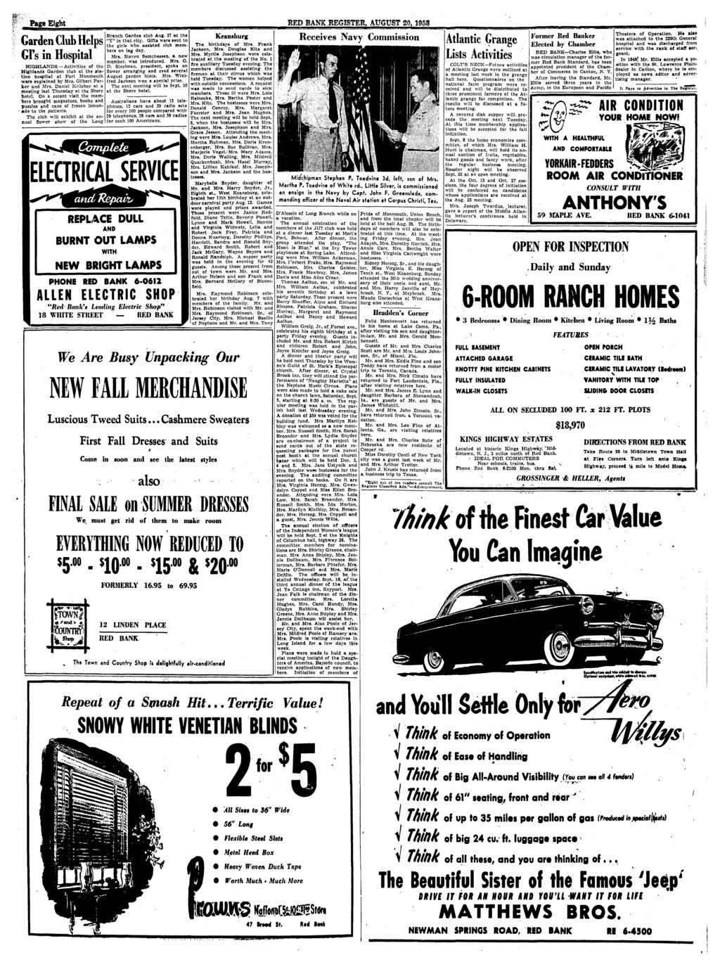 Red Bank Register For All Departments Call Pdf Glove Compartment Wiring Diagram 1953 Studebaker Champion And Commander Para Eieht August 20 Garden Club Helps Gis In Hospital