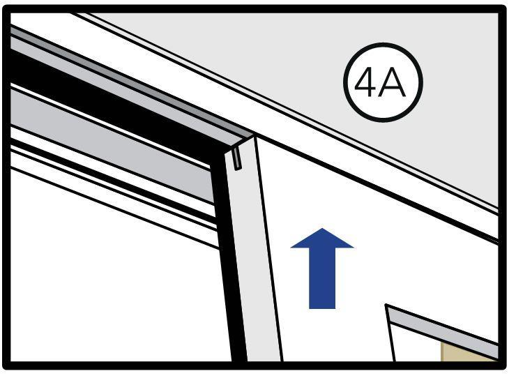 3SETTING AND FASTENING THE WINDOW (CONTINUED) I. Check sill slider track is installed and seated correctly. Note: The sill track profile must be sloped toward the exterior. J.