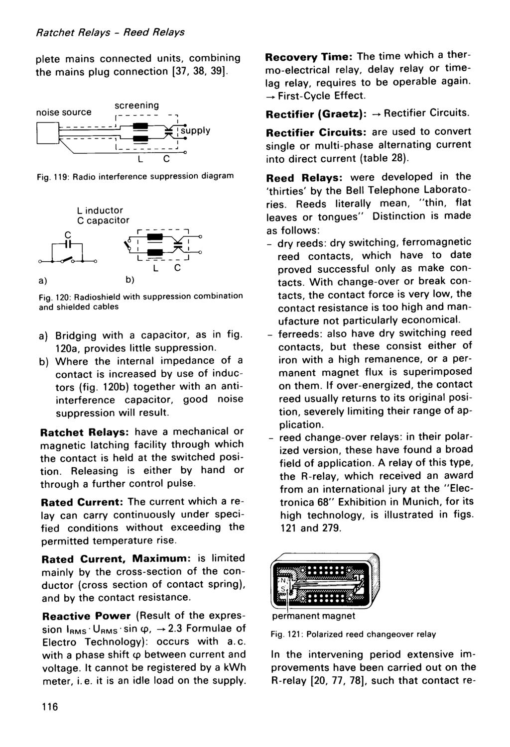 Hans Sauer Modern Re La Y Technology Pdf Reed Switch Wiring With Relays Moreover Latching Relay Circuit Diagram Ratchet Plete Mains Connected Units Combining The Plug Connection