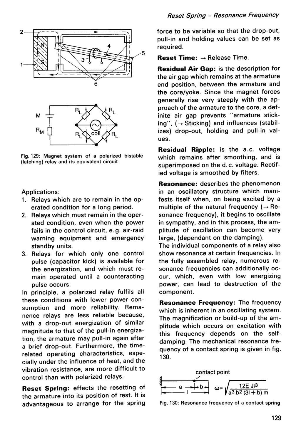 Hans Sauer Modern Re La Y Technology Pdf Relay Bistable Circuit Reset Spring Resonance Frequency Fig 129 Magnet System Of A Polarized