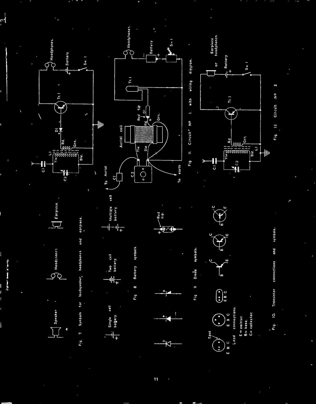 Il4 Bernards Radio Manuals Circuits For Modern Transistor Beginners Two Ic Am Kit With Training Course Model Am780k Electronic E 8 C Fig 10 Connections Arid Symbols