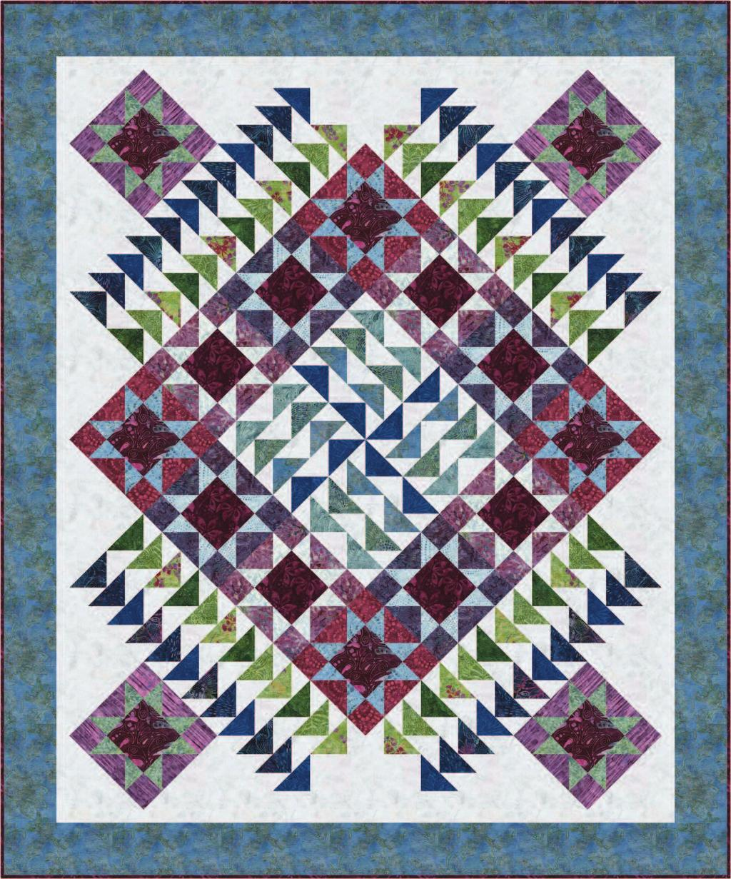 Tonga 6-Packs  Flight Plan quilt designed by Marilyn Foreman