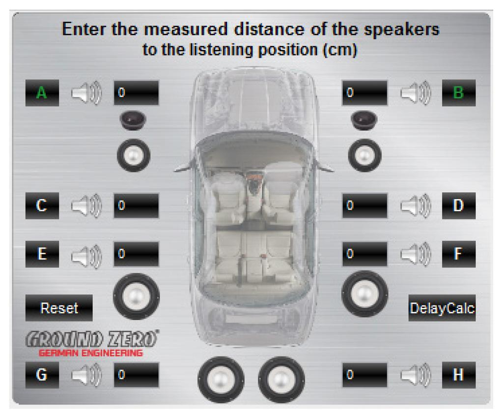 Dsp Series Amplifier Pdf Wiring Diagram For Kicker Kx3 Warning It Is Recommended To Fill In The Measured Distances Of Speakers