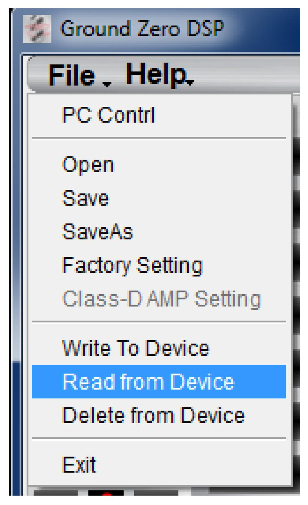 Dsp Series Amplifier Pdf Wiring Diagrams Additionally Mb Quart Crossover Diagram On Web File Dropdown Menu Pc Contrl Opens The Select Com Window Page 9 Open