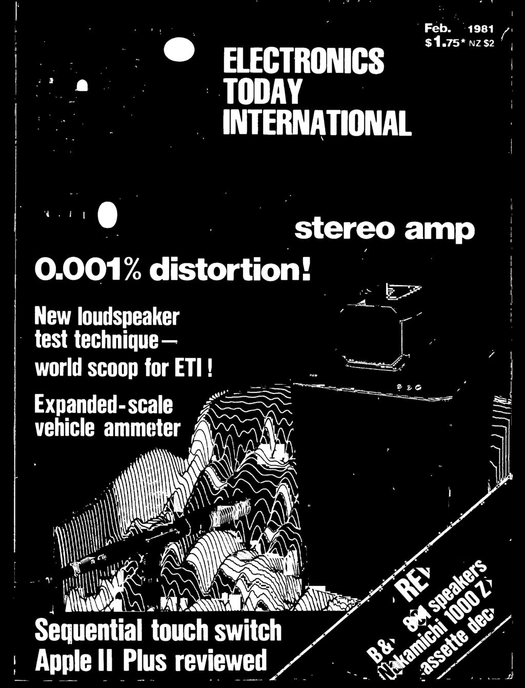 Ile Stereo Amp Distortion International Today Electronics Wiring Diagram 2 Humbuckers 3way Lever Switch 1 Volume 0tone 001 Scoop For Eti
