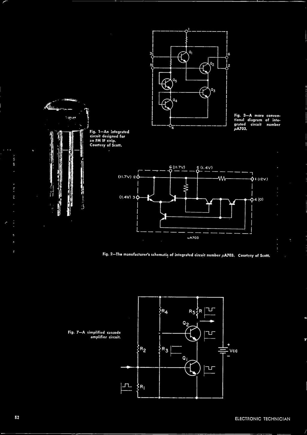 Servicing A Modern Color Tv Protecting Electronic Circuits The 1953 Plymouth Cranbrook Wiring Diagram 2 Manufacturers Schematic Of Integrated Circuit Number A703