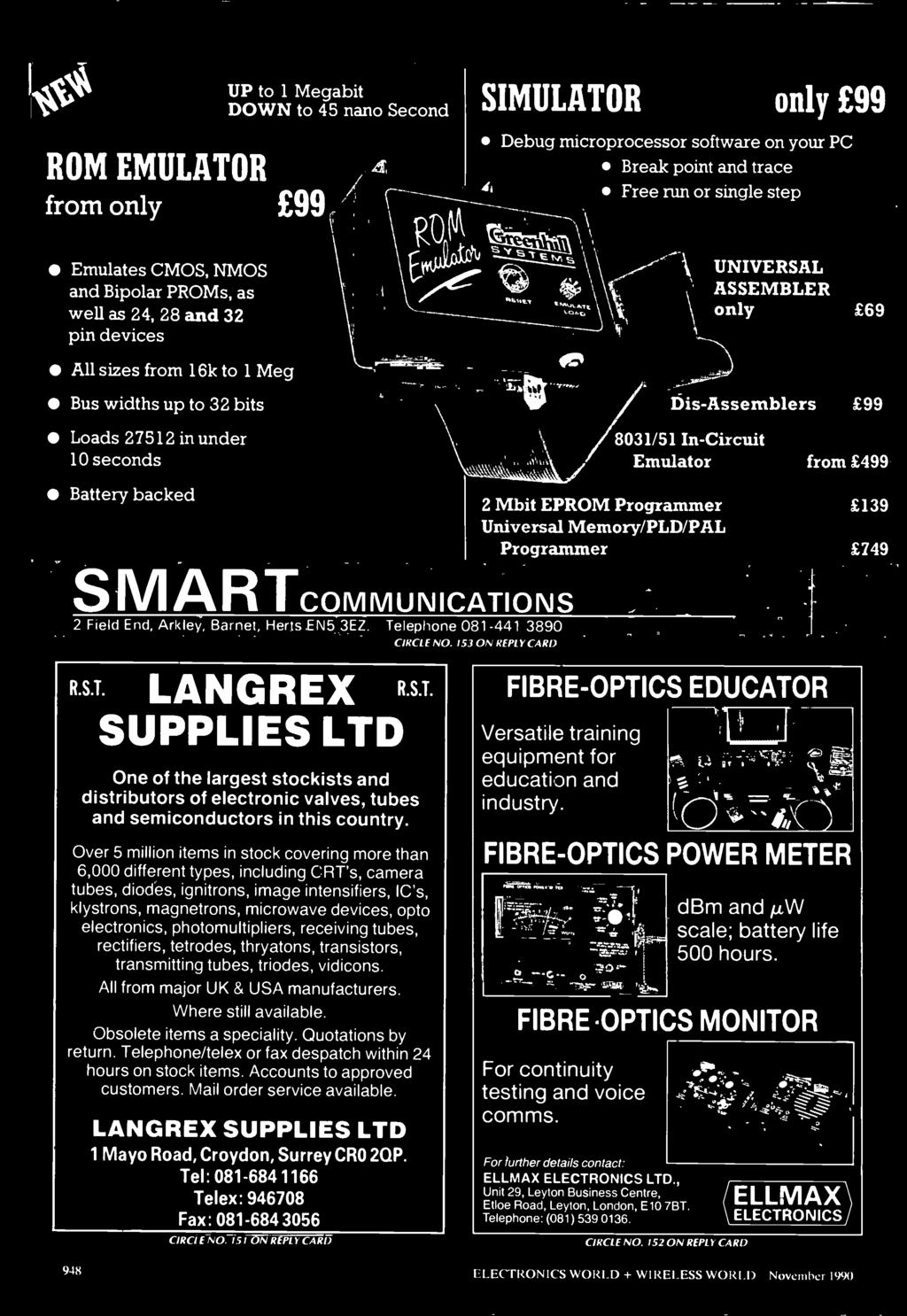 Wireless World All In The Card Just A Toy 340 Spectrums Analyser 441 Singlechip Microcomputer Integrated Circuit Diagram Schematic S Martcommunications 2 Field End Arkley Barnet Herts En5