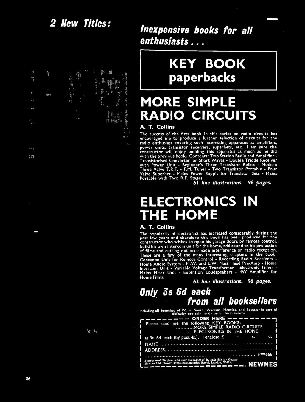 June 1966 Wireless Page Pocket Guide To Transistor Circuits Sub Circuit Diagrams For The Am Walkietalkie Experiments Collins Success Of First Book In This Series On Radio Has Encouraged Me