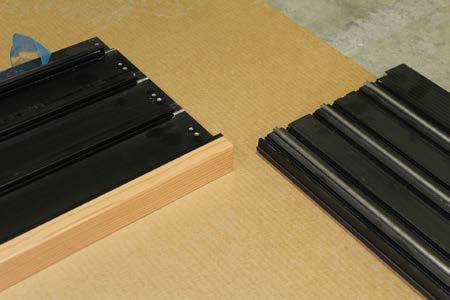 There are 3 sets of foam sealing pads to be applied Lay frame head, sill and side jamb(s) on a flat surface 6.