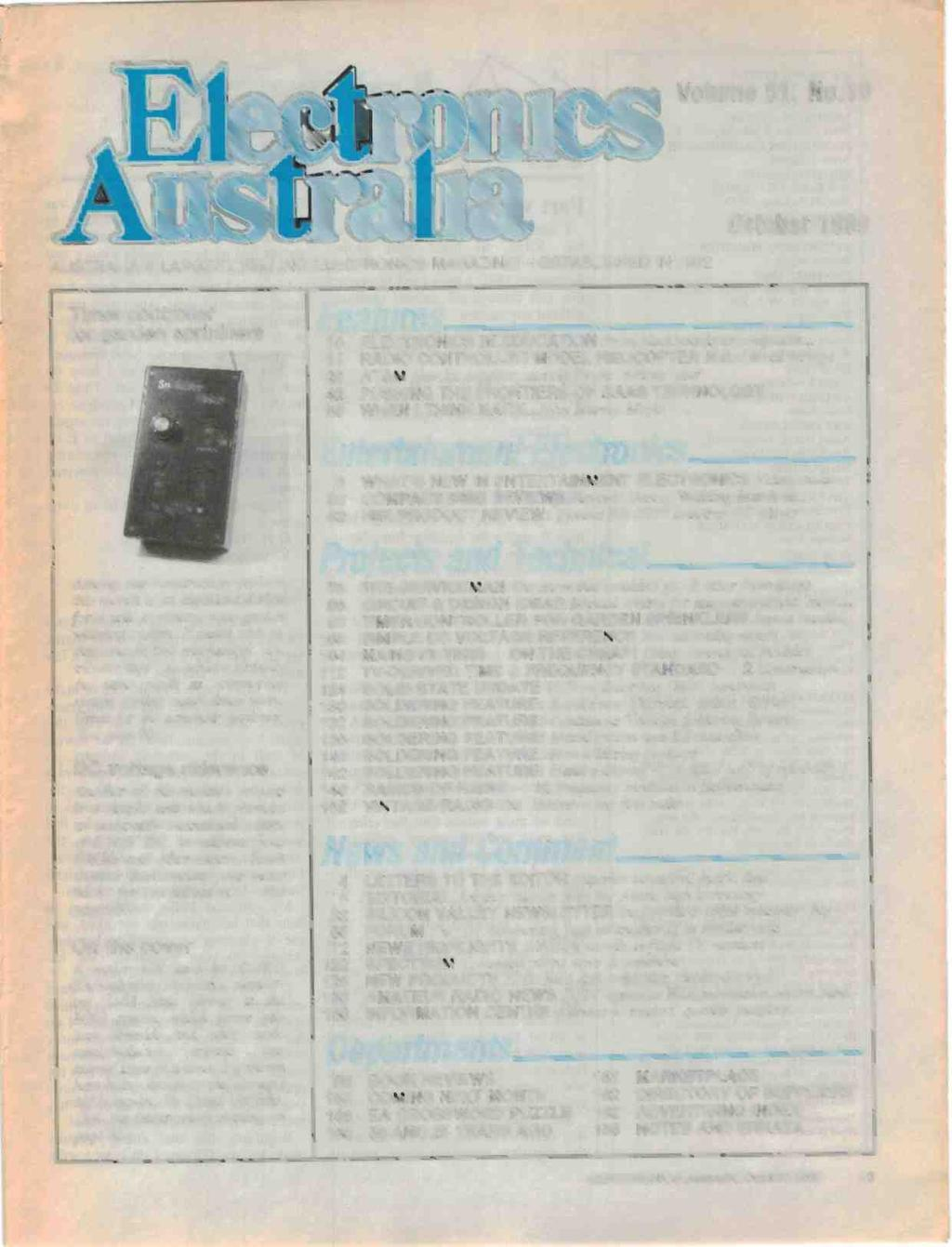 R F Csiro Breakthrough In Super Fast Transistors Controller Likewise Sprinkler Valve Wiring Diagram Besides Volume 51 No10 Australias Largest Selling Electronics Magazine Established 1922 October