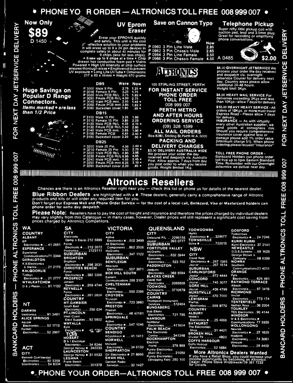 Australias Top Selling Electronics Magazine April 1986 Aust Diagram Likewise Rs232 Db9 Connector Pinout On 9 Pin Din Cable 217 X 80 68mm Weight 670 Grams Were Now P 3000 Male
