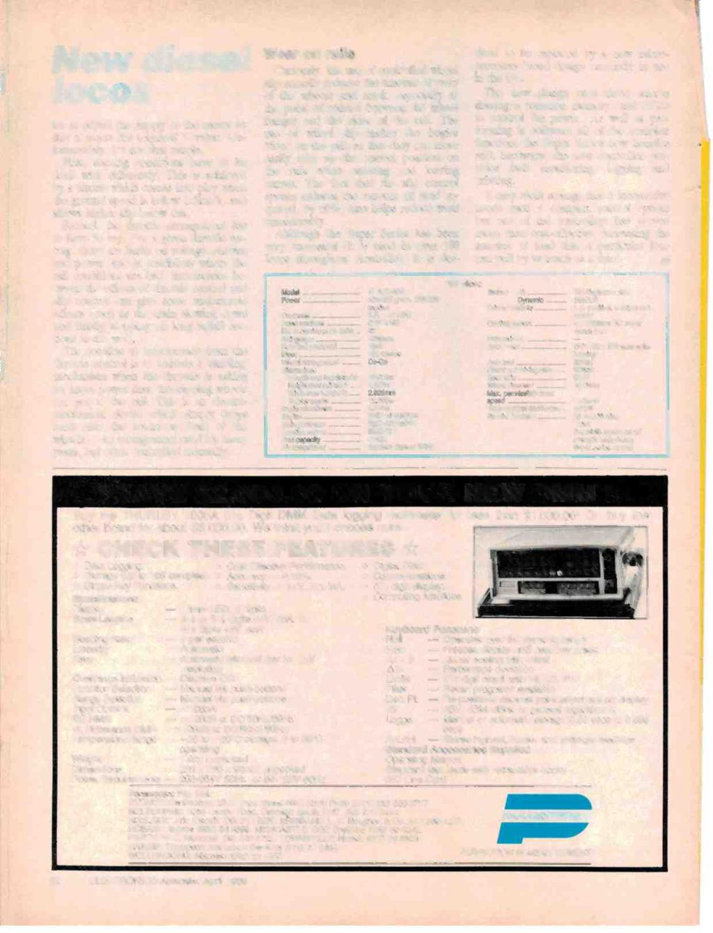 Australias Top Selling Electronics Magazine April 1986 Aust Arlec Door Chime Wiring Diagram I New Diesel Locos Ter To Adjust The Supply Motor So That