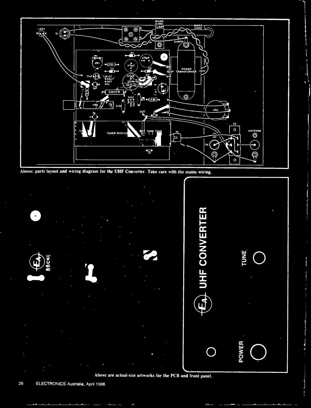 Australias Top Selling Electronics Magazine April 1986 Aust Porsche 1973 1914 Fuse Box Diagram 1 Out 01 4c7 Power Transformer 240v I Vr2 52 Ono V Gain
