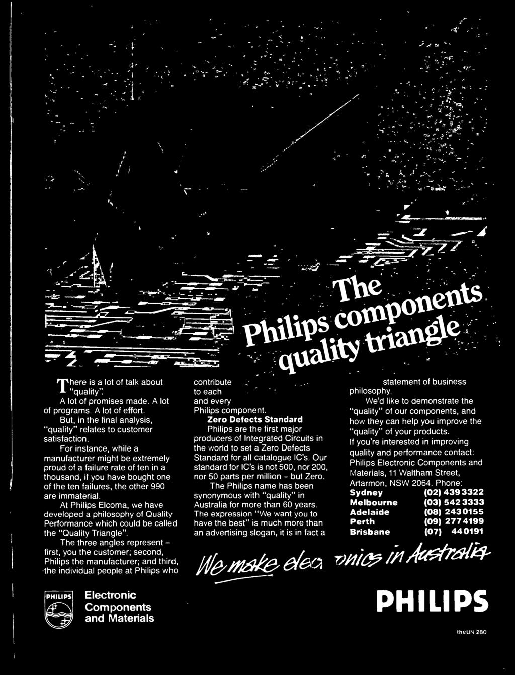 Australias Top Selling Electronics Magazine April 1986 Aust Sigmatic Jug Kettle Skt 200 And Every Philips Component Zero Defects Standard Are The First Major Producers Of Integrated