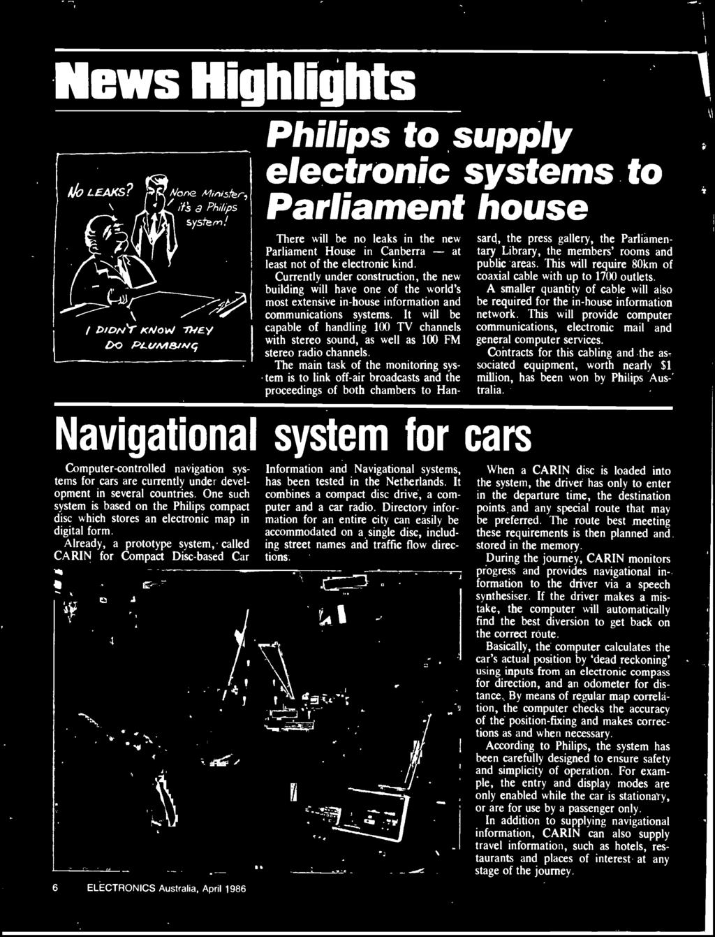 Australias Top Selling Electronics Magazine April 1986 Aust Diagram Likewise Rs232 Db9 Connector Pinout On 9 Pin Din Cable The Main Task Of Monitoring System Is To Link Off Air Broadcasts And