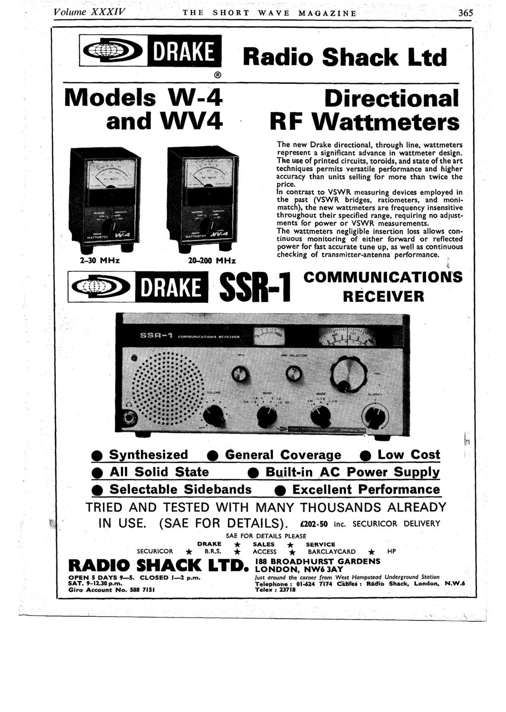 Granby Halls Amateur Radio Exhibition Leicester 28 29 30 October Zn414 Portable Am Receiver Volume Xxxiv The Short Wave Magazine 365 Drake Models W 4 Nd Wv4 2