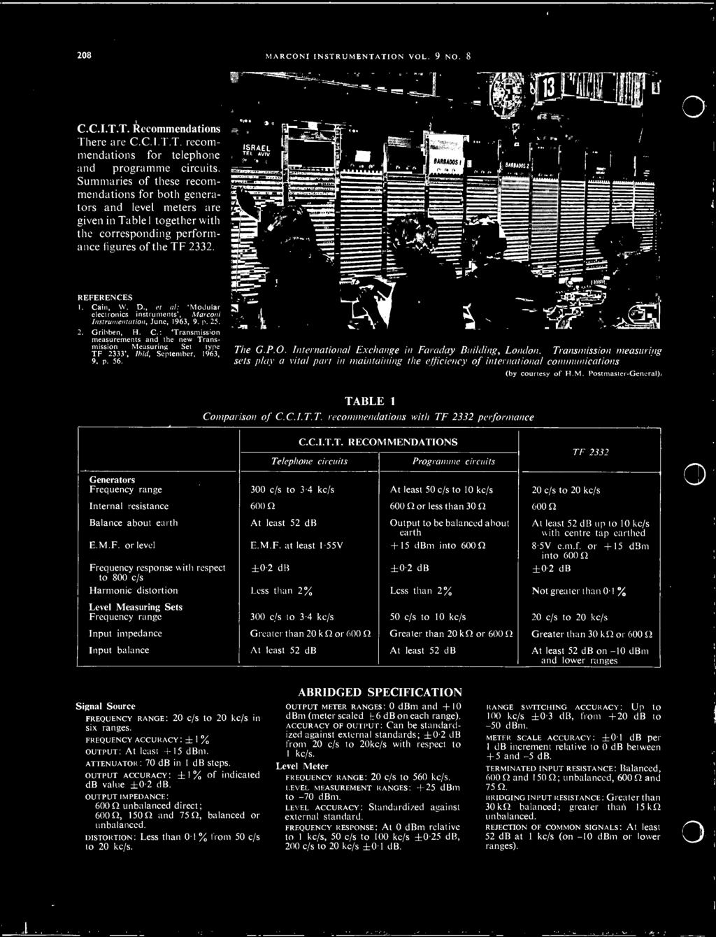 INSTRUMENTATION MARCONI  Issued Quarterly by Marconi