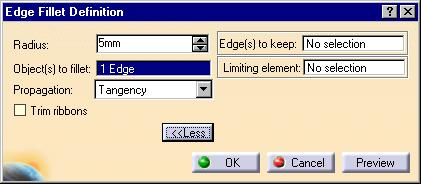 Limiting element field 5 Select the