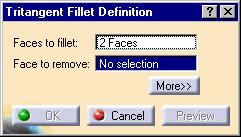 Tritangent Fillets 1 Multi-select the